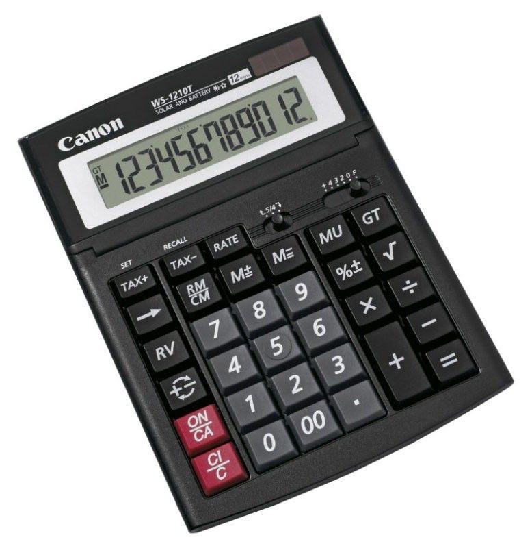Калькулятор Canon WS-1210T 12-разрядный, чёрный
