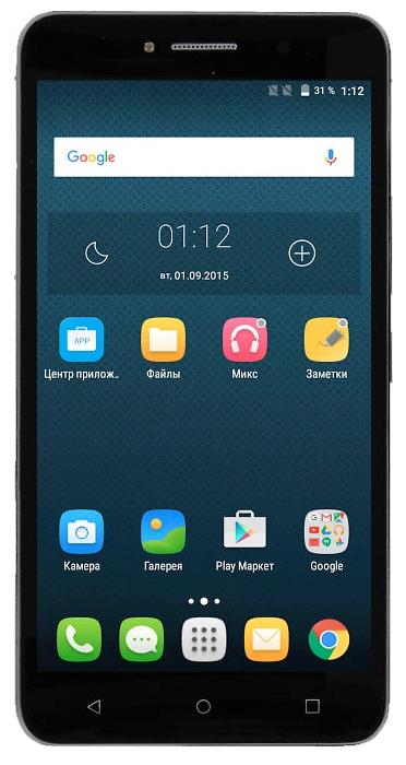 Смартфон Alcatel OneTouch PIXI 4 8050D Volcano, Black 8050D-2AALRU1