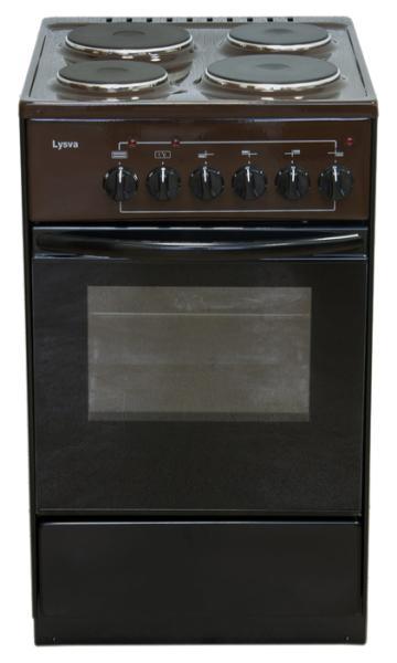 Плита Lisva ЭП 402 МС, коричневая ЭП 402 МС коричневая