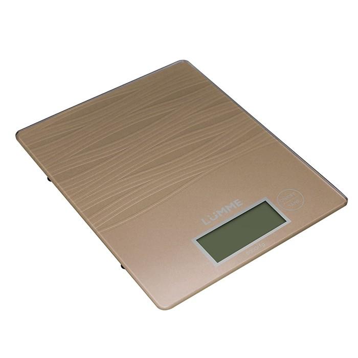 Кухонные весы Lumme LU-1318, сияющая бронза LU-1318 сияющая бронза
