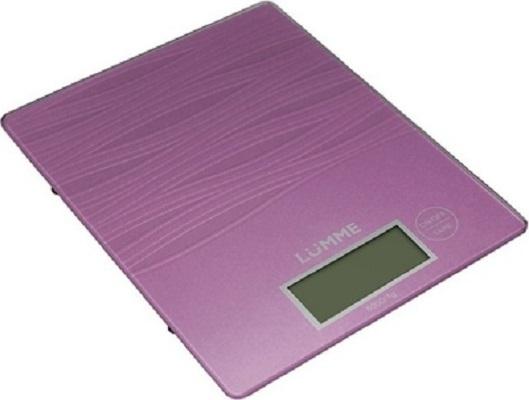 Кухонные весы Lumme LU-1318, лиловый аметист LU-1318 лиловый аметист