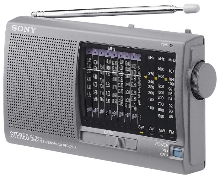Радиоприемник SONY ICF-SW11S, серебристый ICFSW11S.CE7