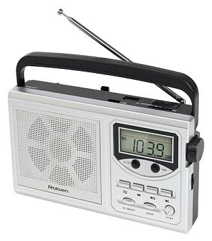 Радиоприемник Rolsen RBM-217, серебристый 1-RLAM-RBM217SL