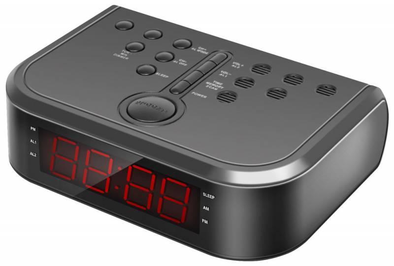 Радиоприемник Rolsen Радиобудильник CR-110, черный 1-RLDB-CR110