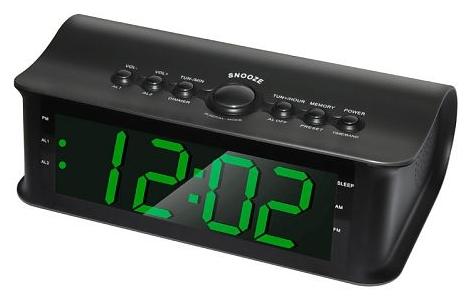 Радиоприемник Rolsen Радиобудильник CR-182, черный 1-RLDB-CR-182