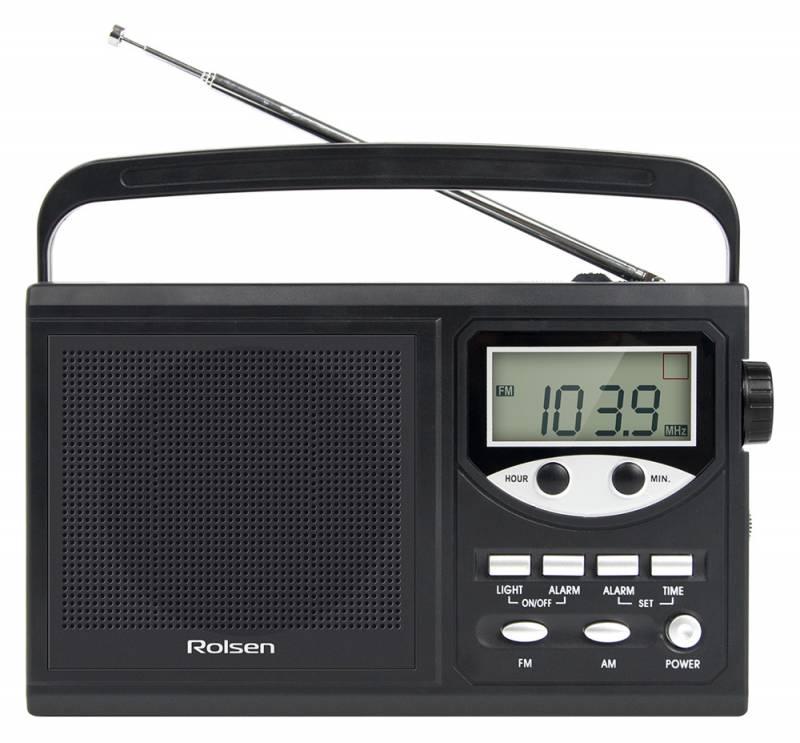 Радиоприемник Rolsen Радиобудильник RBM-216, черный 1-RLAM-RBM216BL