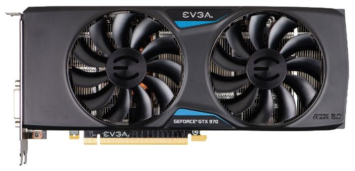 Видеокарта GeForce EVGA GTX 970 1190Mhz PCI-E 3.0 4096Mb 7010Mhz 256 bit DVI HDMI HDCP 04G-P4-3975-KR