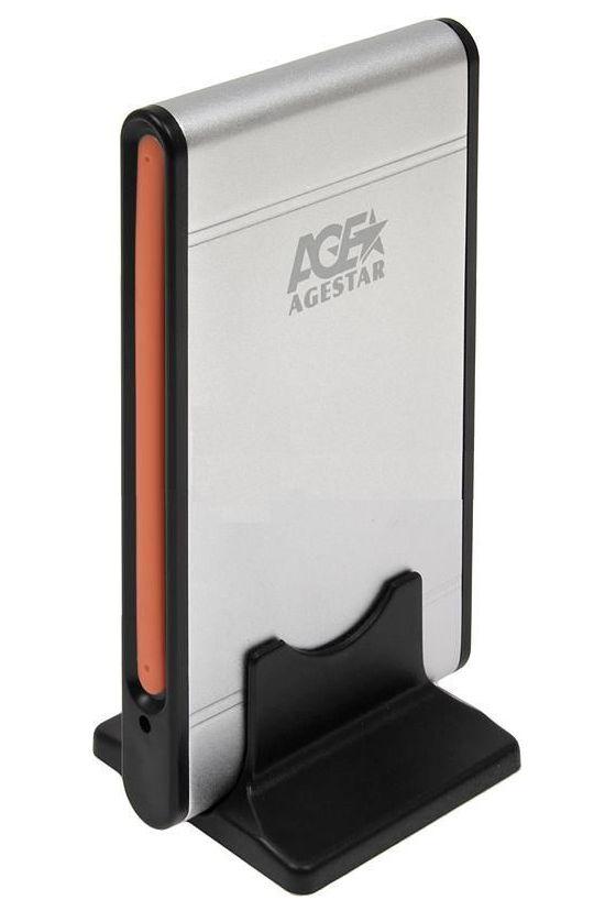 Корпус жесткого диска Agestar SUB2A1 (2.5'', miniUSB2.0b), серебристый SUB2A1 SILVER