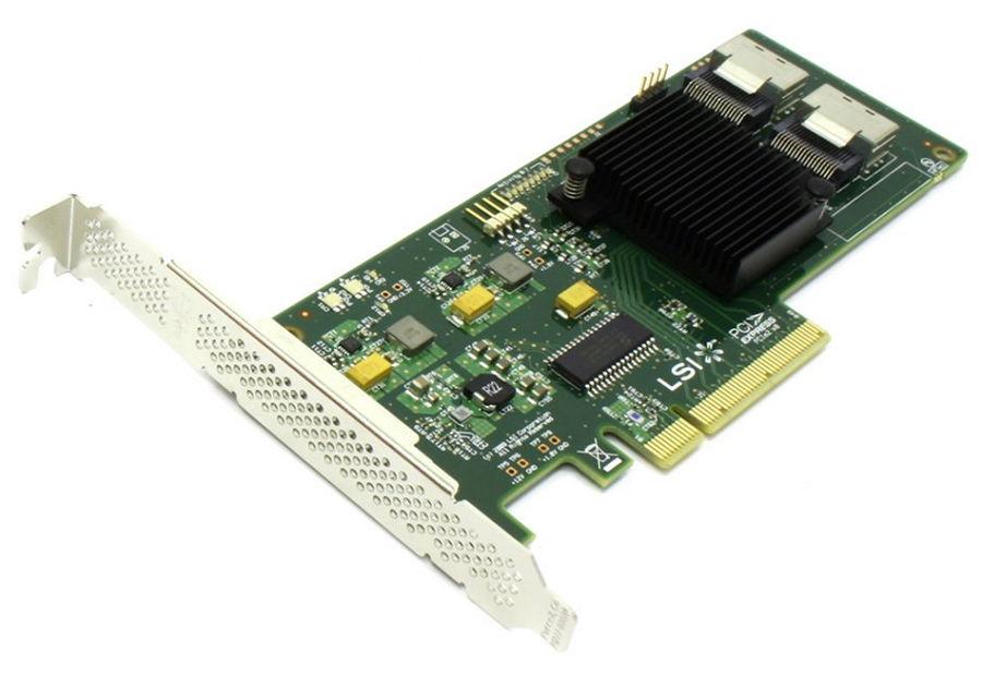 Контроллер LSI-LOGIC SAS 9211-8i (PCI-e - SAS/SATA, RAID 0,1,1e,10) LSI00194