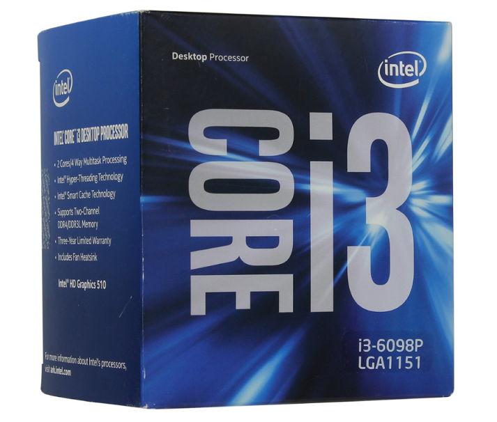 Процессор Intel Core i3-6098P Skylake (3600MHz, LGA1151, L3 3072Kb, Retail) BX80662I36098P