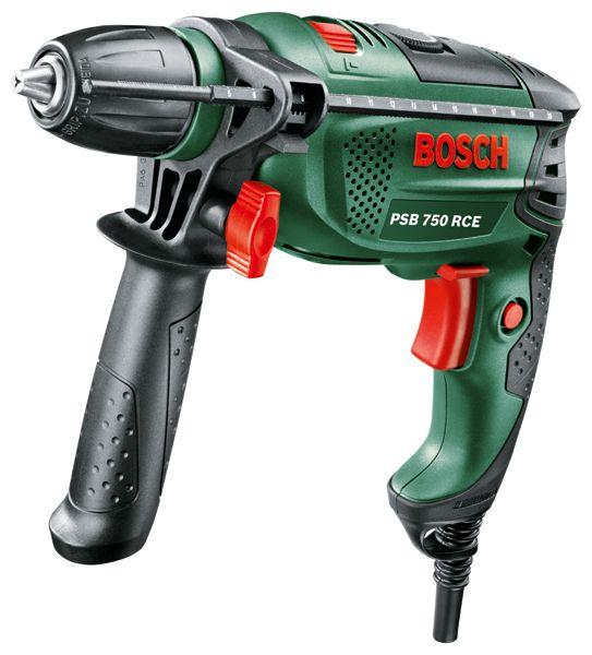 Дрель Bosch PSB 750 RCE, БЗП, 750 Вт [0.603.128.520] 0603128520