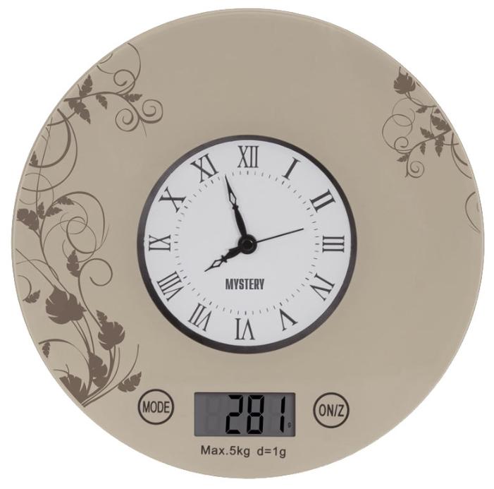 Кухонные весы Mystery MES-1818, бежевые
