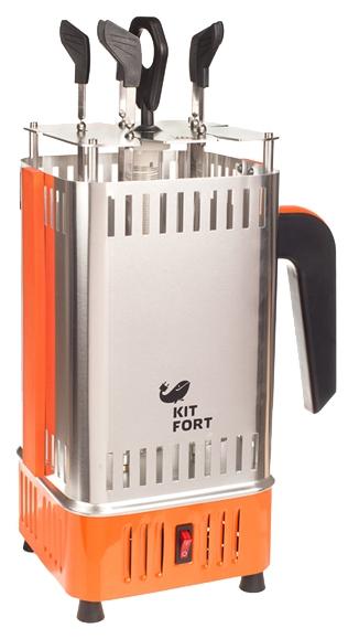 Электрогриль KITFORT KT-1403, серебристый/оранжевый