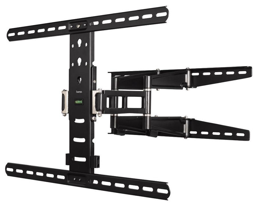 Кронштейн HAMA H-108757 (37-70'', до 35 кг, наклон, поворот), чёрный H-108757 черный