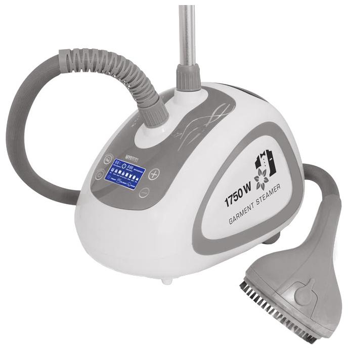 Пароочиститель-отпариватель Mystery MGS-4003, белый/серый