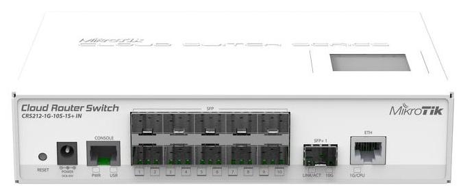 Роутер WiFi MikroTik CRS212-1G-10S-1S+IN