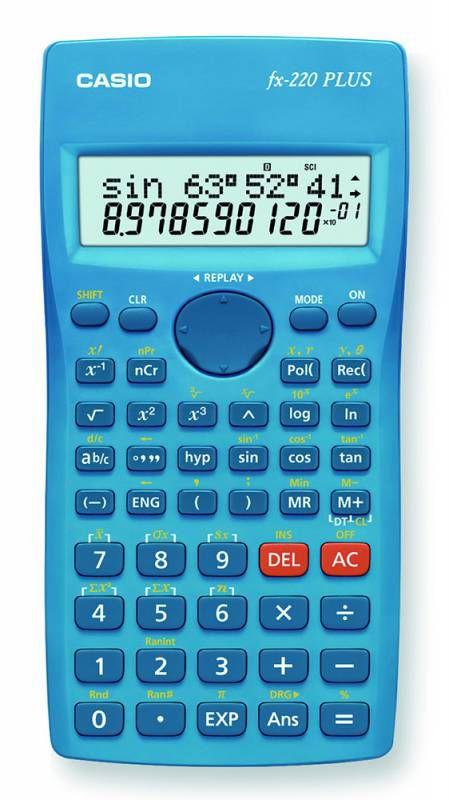 Калькулятор Casio FX-220PLUS 10+2-разрядный, Синий