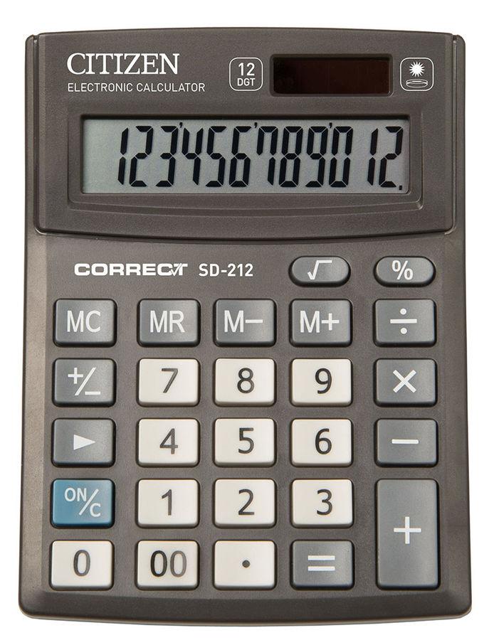 Калькулятор Citizen Correct SD-212 12-разрядный Чёрный