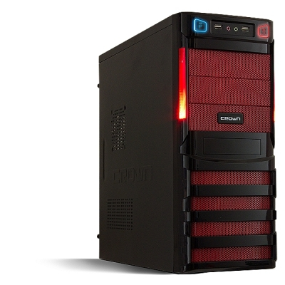 ������ Crown ATX CMC-SM162 black/red 450W