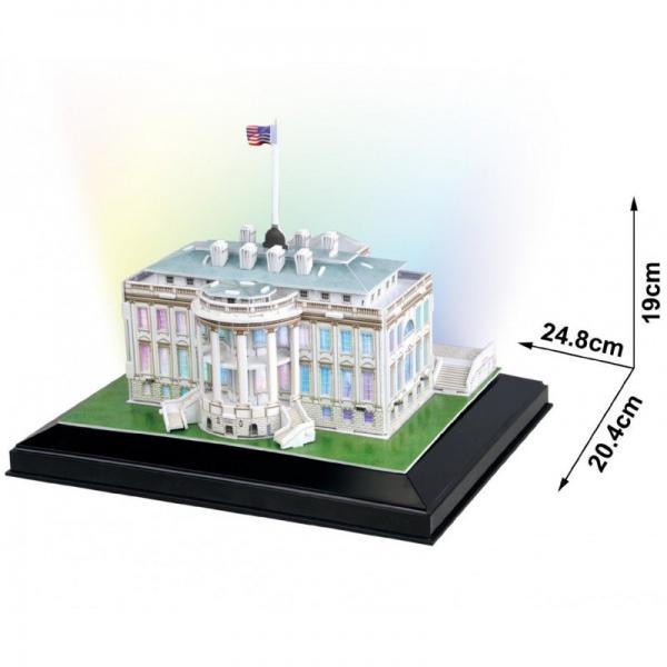 Набор игровой CubicFun (пазл) Белый дом с иллюминацией (США)