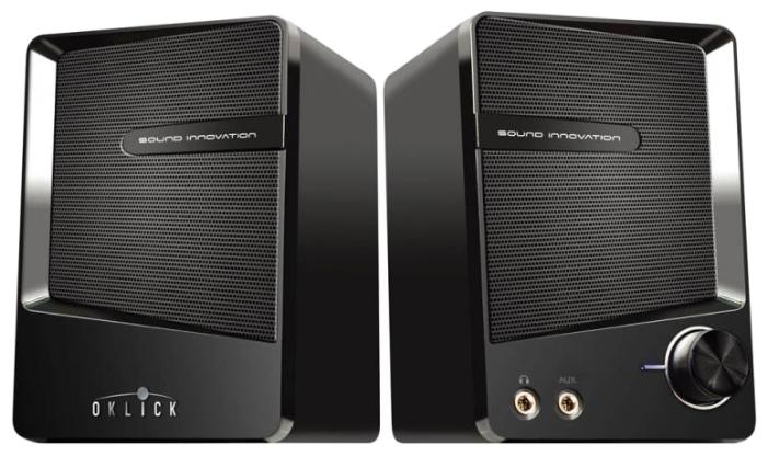 Компьютерная акустика oklick OK-126, черная OK-126 BLACK
