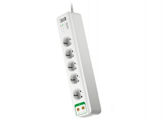 Сетевой фильтр PM5V-RS, 5 розеток, 1,83 м., белый APC PM5V-RS