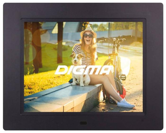 Цифровая фоторамка Digma PF-833, черная PF833BK