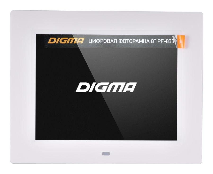 Цифровая фоторамка Digma PF-833, белая PF833W