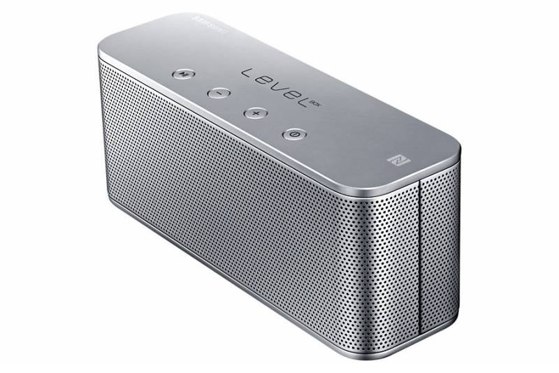 Портативная акустика Samsung Level Box mini (Bluetooth, NFC), серебристая EO-SG900DSEGRU