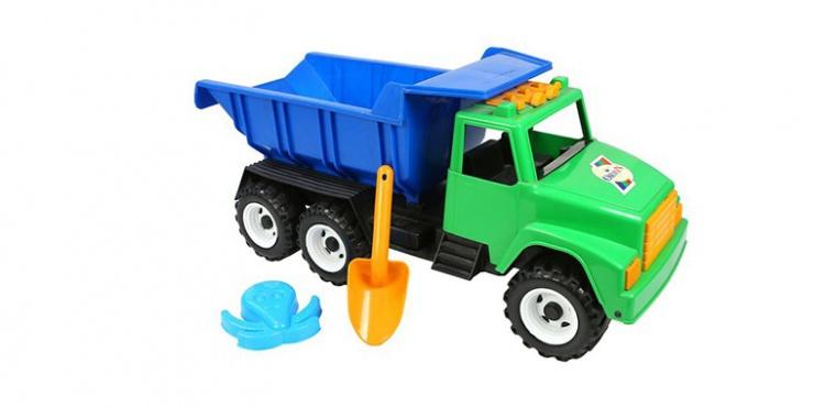 ОР184 Автомобиль RT Интер BIG цветной (лопата, пасочка) сине-зеленый