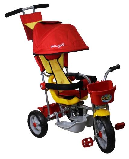 Трехколесный велосипед Galaxy RT Лучик с капюшоном, красный