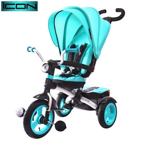 Трехколесный велосипед RT ICON 6 Luxe Aluminium aqua