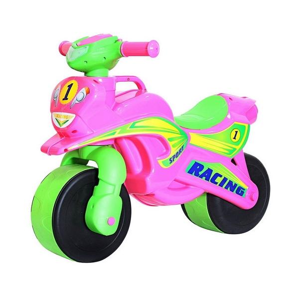 Беговел RT 138 Motobike Racing, розово-зелёный