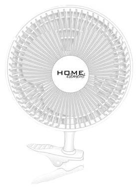 Вентилятор HOME-ELEMENT HE-FN1200, белый