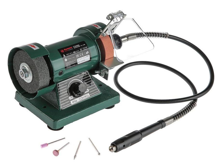 Электроточило Hammer TSL120B, с гибким валом для гравировки