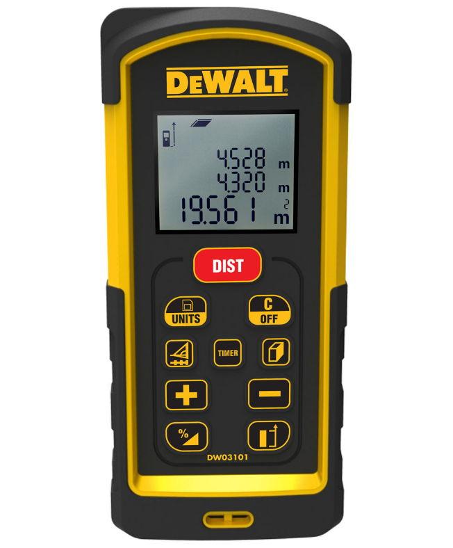 Дальномер DeWALT DW 03101, лазерный, 100 м, чехол DW03101