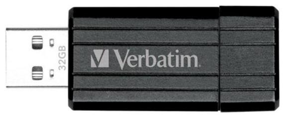 Usb-флешка Verbatim 32Gb PinStripe 49064 USB2.0, черный