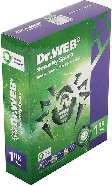 Антивирус Dr-Web Security Space 1 ПК/1 год BHW-B-12M-1-A3