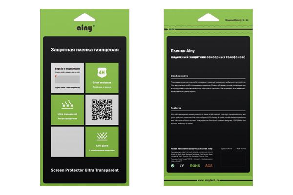 Защитная пленка для смартфона Ainy для HTC Desire 728, глянцевая UPG1041602