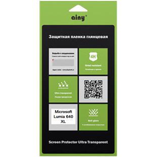 Защитная пленка для смартфона Ainy для Microsoft Lumia 640 XL, Lumia 640 XL Dual Sim, глянцевая UPG1038203