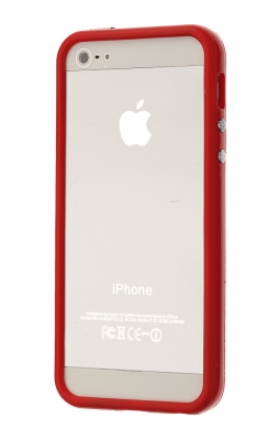 noname Чехол-бампер для Apple iPhone 5/5s/SE, красный