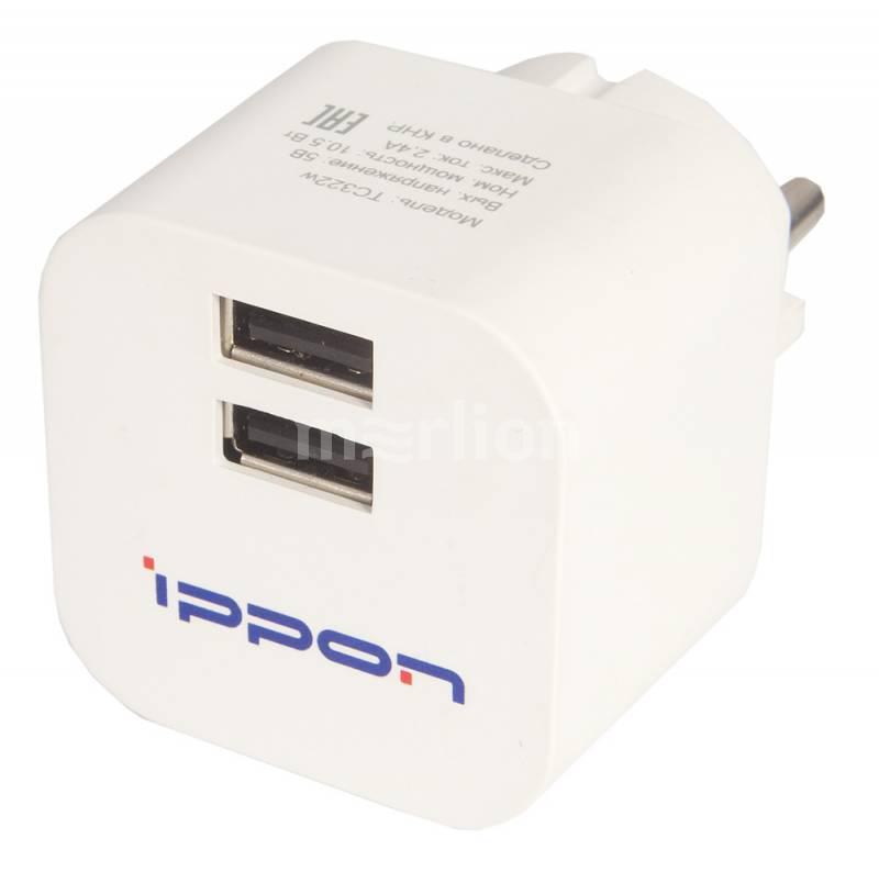 Зарядное устройство Ippon TC322w, универсальное, white