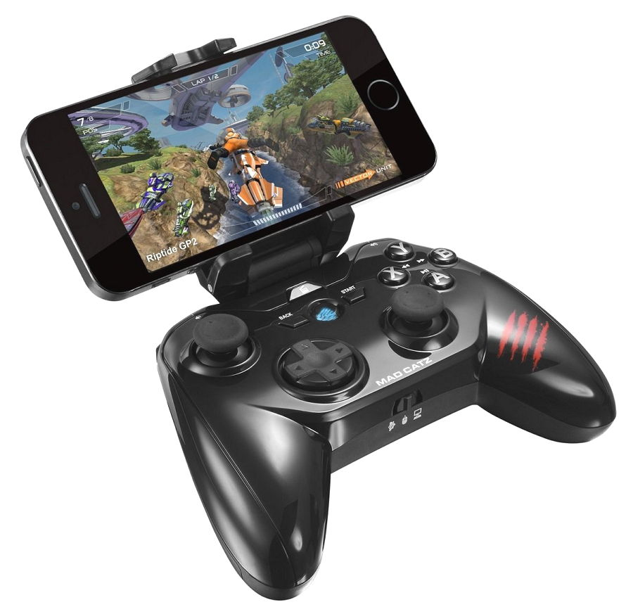 Геймпад Mad-Catz Mad Catz Micro C.T.R.L.R (мобильный, для Android, Amazon Fire TV, Smart Devices, PC и M.O.J.O. Micro-Console), чёрный