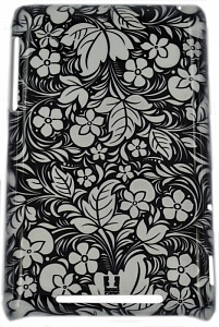 спинка E-cell FLORAL BLACK & WHITE PROTECTIVE HARD BACK CASE