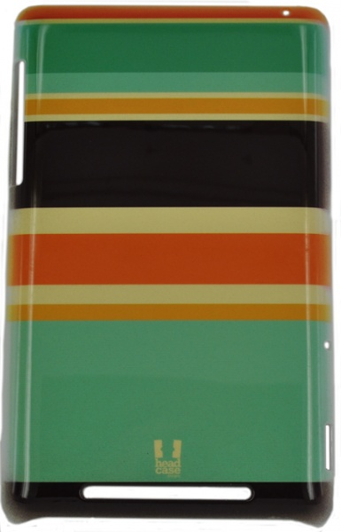 ������ E-cell HEAD CASE ORANGE AND BROWN STRIPES DESIGNS BACK CASE