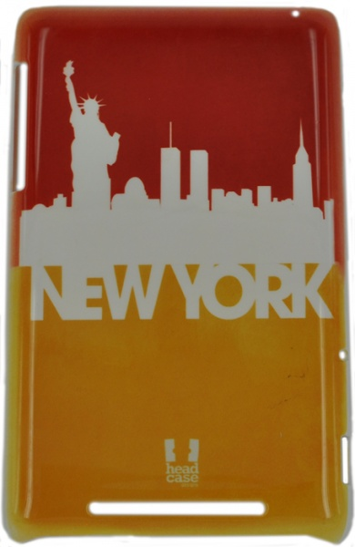 спинка E-cell NEW YORK SILHOUETTE SKYLINE DESIGN GLOSSY CASE