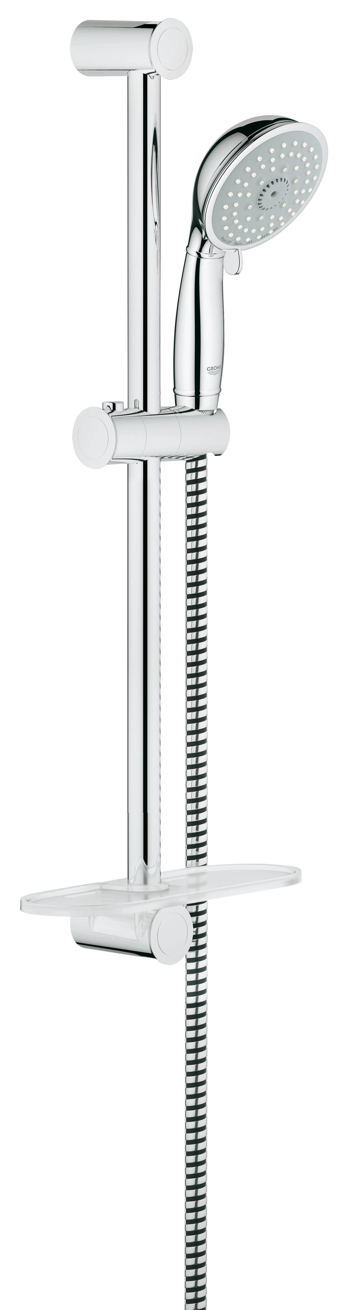 Душевой гарнитур Grohe 27609000 Tempesta Classic (ручной душ, штанга 600 мм, шланг 1750 мм), хром