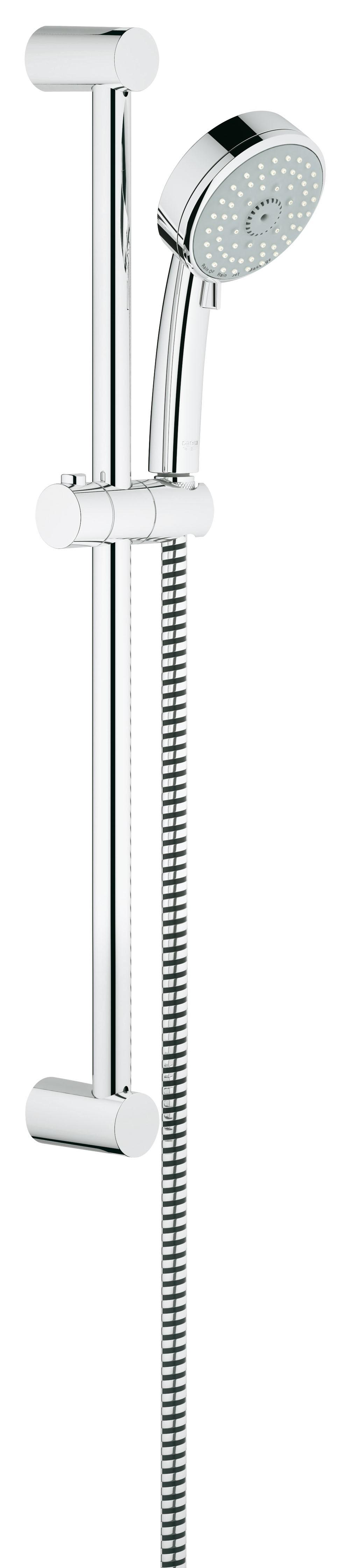 Душевой гарнитур Grohe 27580001 Tempesta Cosmopolitan (ручной душ, штанга 600 мм, шланг 1750 мм), хром