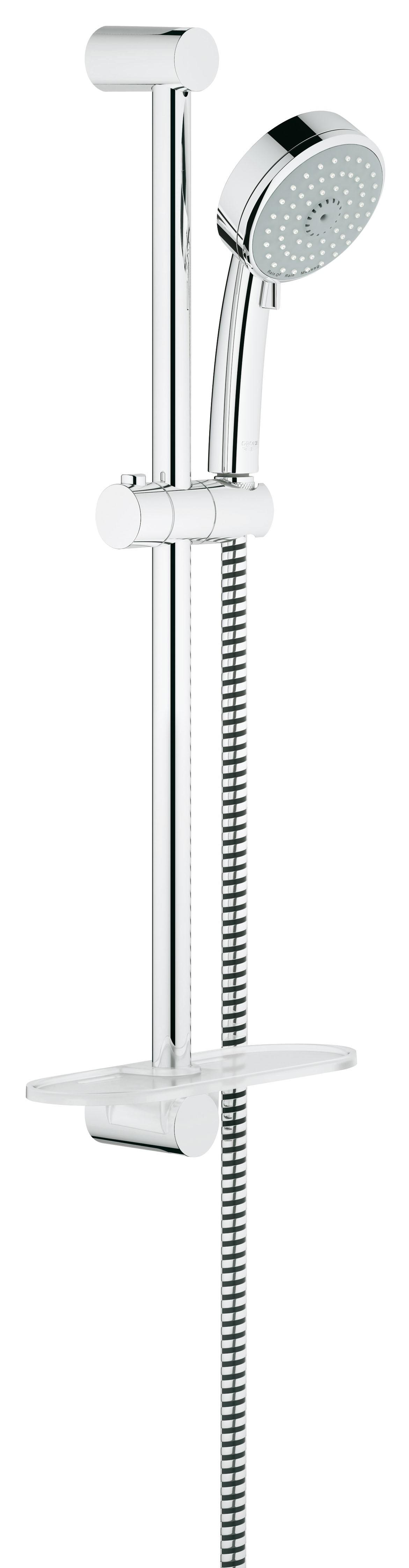 Душевой гарнитур Grohe 27929001 Tempesta Cosmopolitan (ручной душ, штанга 600 мм, шланг 1750 мм), хром
