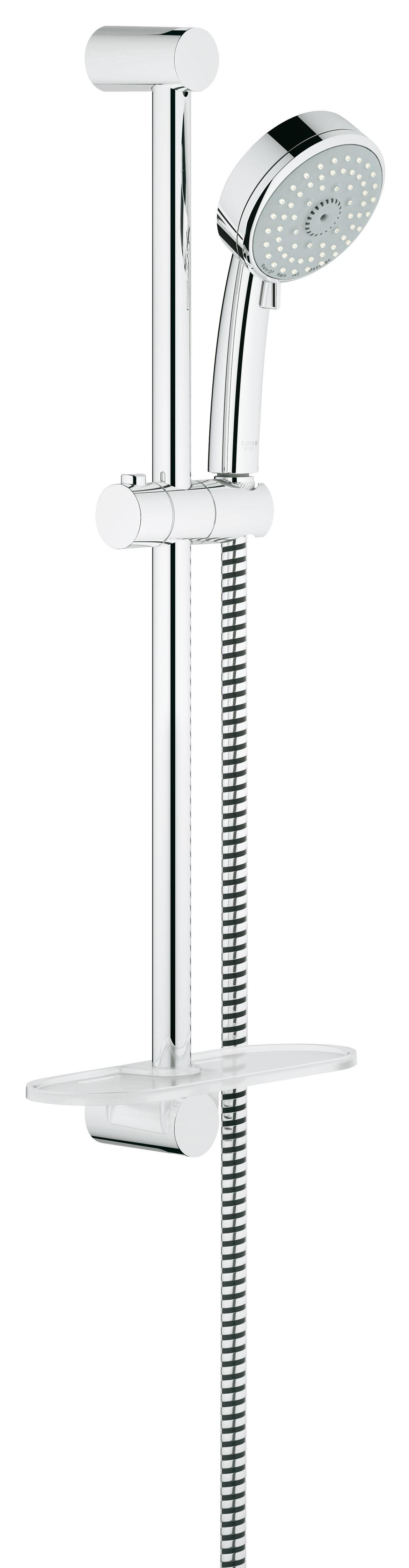 Душевой гарнитур Grohe 27577001 Tempesta Cosmopolitan (ручной душ, штанга 600 мм, шланг 1750 мм) с ограничением расхода воды, хром